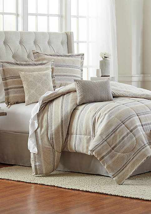 Gabe Damask 6-Piece Comforter Bed-In-A-Bag