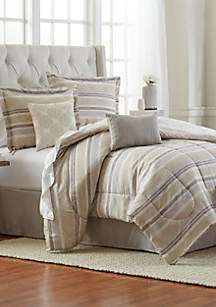 Modern. Southern. Home.™ Gabe Damask 6-Piece Comforter Bed-In-A-Bag