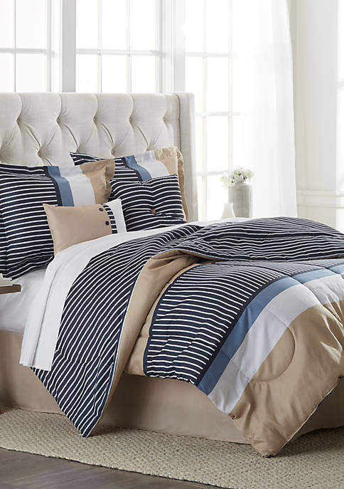 Kingsly 6 Piece Comforter Bed in a Bag