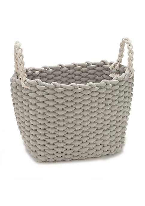 Medium Rectangular Rope Basket 14.17-in. x 10.23-in. x 11.81-in.