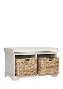 Freddy Wicker Storage Bench
