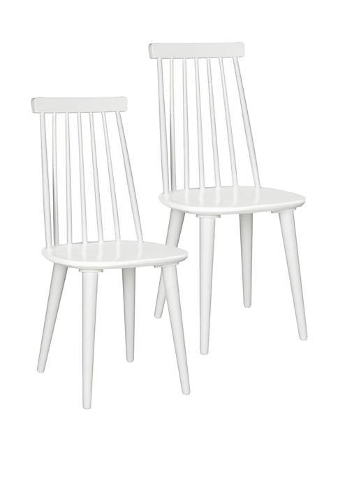Safavieh Set of 2 Burris White Side Chairs