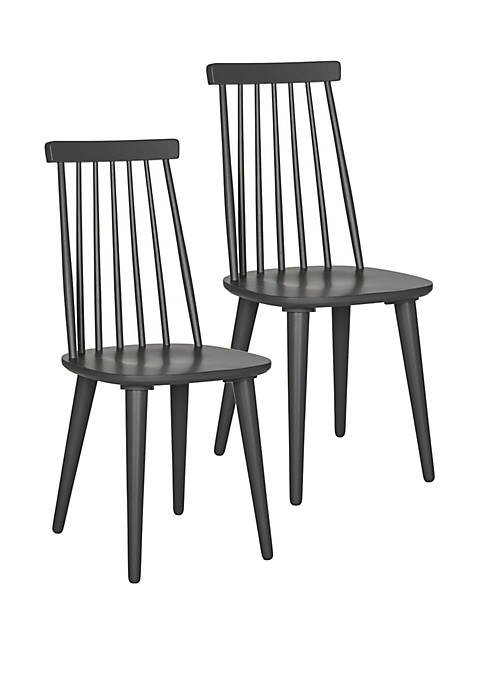 Set of 2 Burris Gray Side Chairs
