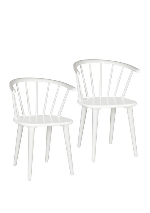 Safavieh Set of 2 Blanchard White Wood Side