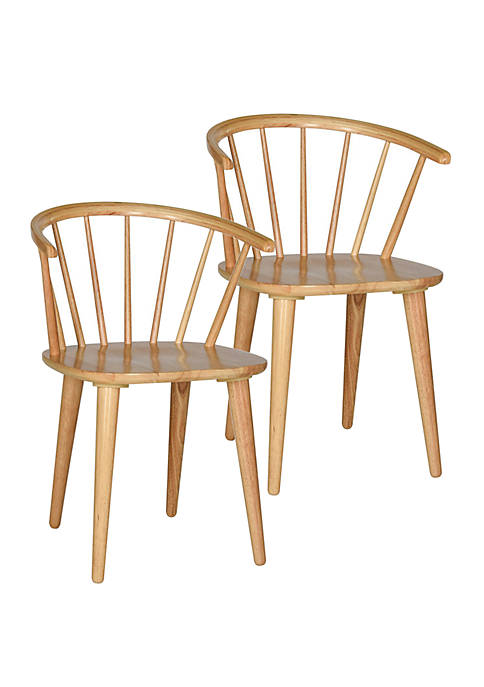 Set of 2 Blanchard Natural Wood Side Chairs