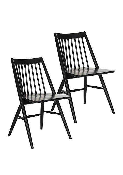 Set of 2 Wren Black Dining Chairs