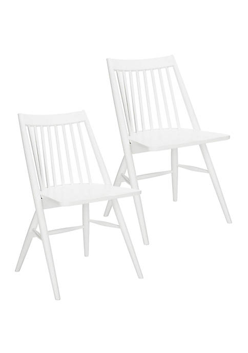 Set of 2 Wren White Dining Chairs