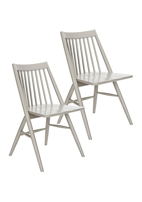Set of 2 Wren Gray Dining Chairs