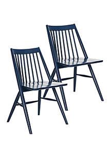 Safavieh Set of 2 Wren Navy Dining Chairs