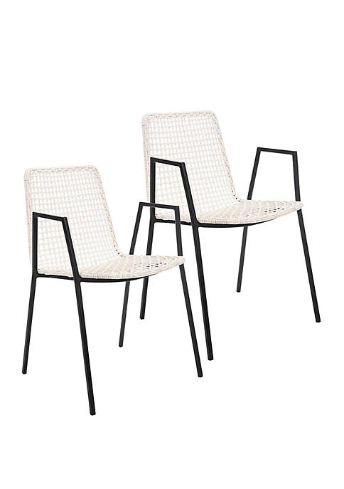 Set of 2 Wynona Leather Dining Chairs