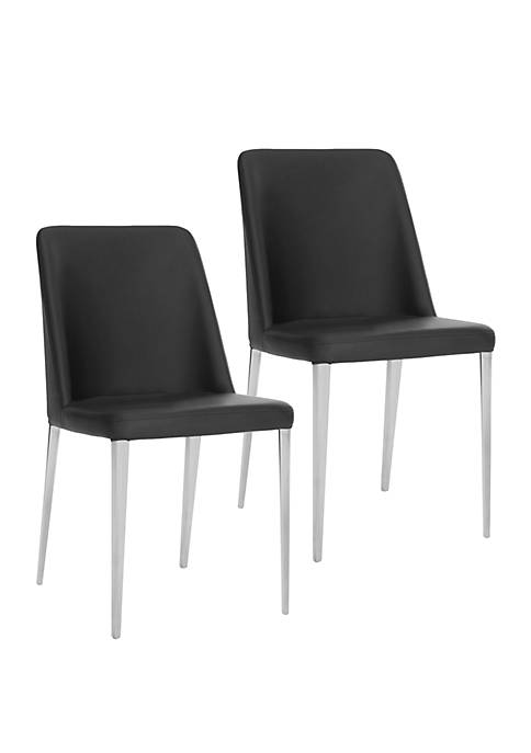 Safavieh Set of 2 Baltic Black Side Chairs