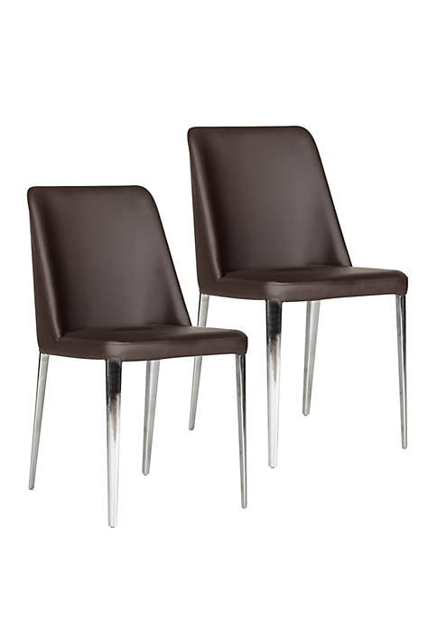 Safavieh Set of 2 Baltic Brown Side Chairs