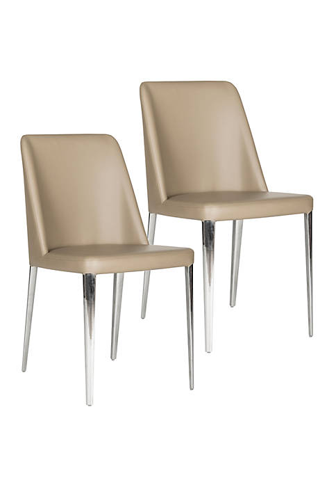 Safavieh Set of 2 Baltic Taupe Side Chairs