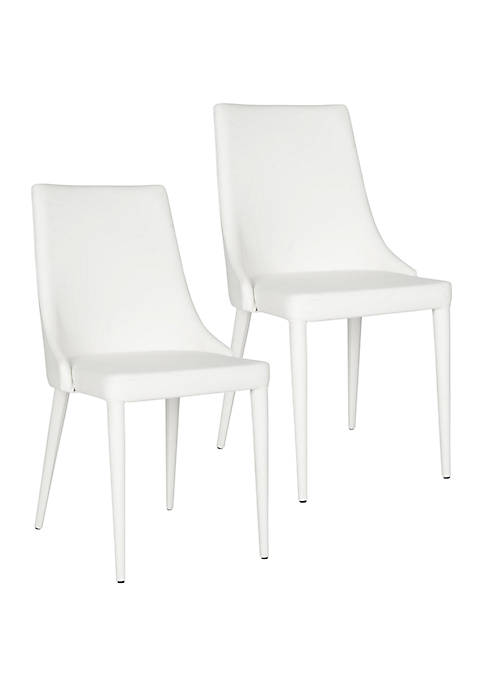 Set of 2 Summerset Polyurethane Leather Side Chairs