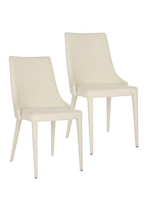 Set of 2 Summerset Beige Linen Side Chairs