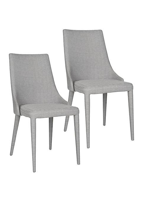 Set of 2 Summerset Gray Linen Side Chairs