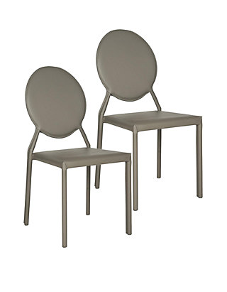 Cool Set Of 2 Warner Polyurethane Leather Side Chairs Bralicious Painted Fabric Chair Ideas Braliciousco