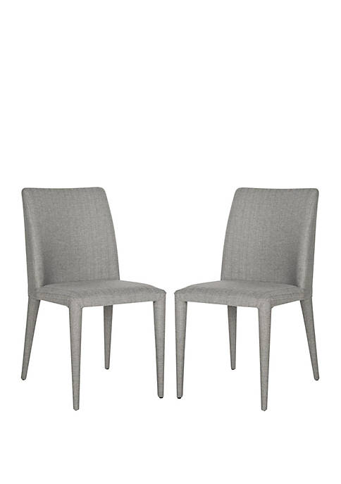 Safavieh Set of 2 Garretson Gray Linen Side