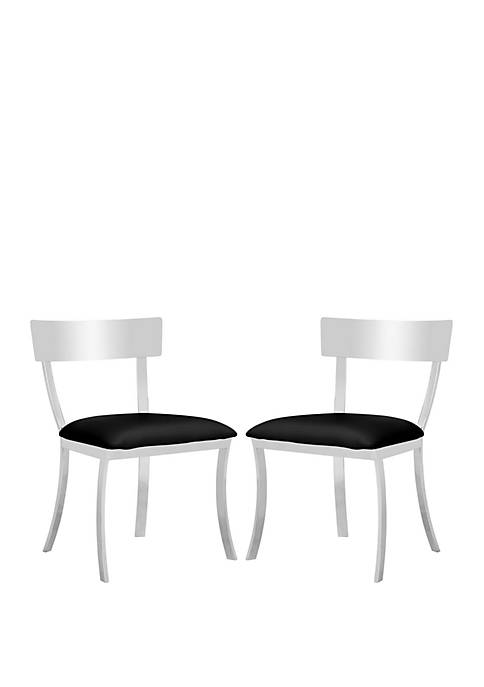 Safavieh Set of 2 Black Abby Side Chairs
