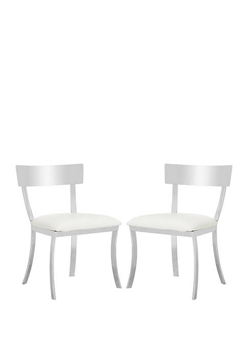 Set of 2 White Abby Side Chairs