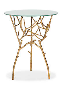 Safavieh Tara Branched Glass Top Gold Accent Table