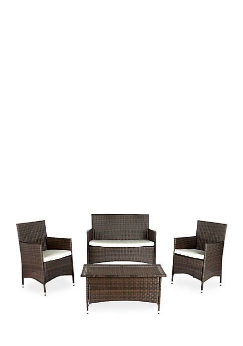 Safavieh Mojavi 4 Piece Wicker Set