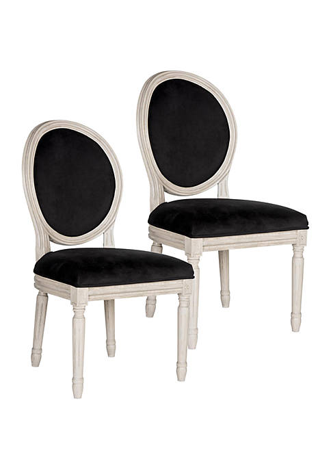 Safavieh Set of 2 Holloway Oval Side Chairs