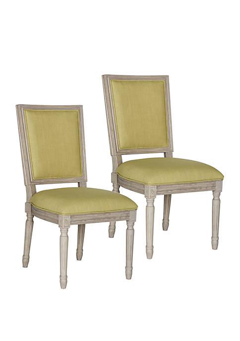 Set of 2 Buchanan Rectangular Side Chairs