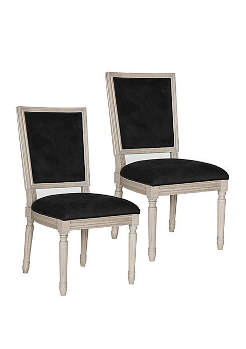 Set of 2 Buchanan Rectangular Side Chairs
