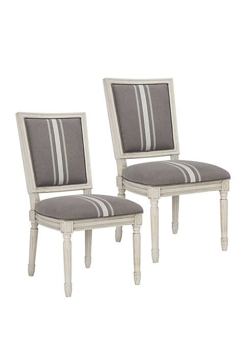 Safavieh Set of 2 Buchanan Rectangular Side Chairs