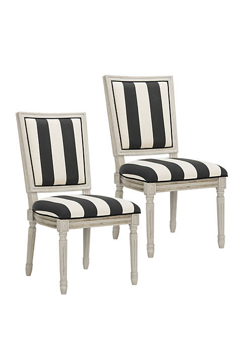 Safavieh Set of 2 Buchanan Rectangular Side Chairs