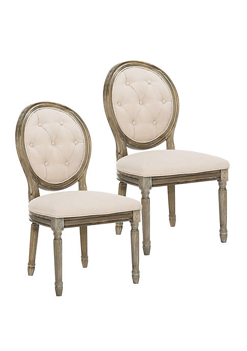 Safavieh Set of 2 Holloway Tufted Oval Side