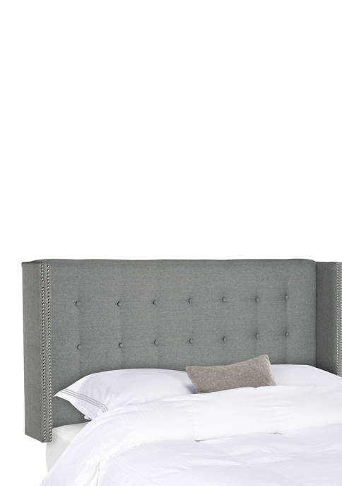 Safavieh Keegan Linen Tufted Winged Headboard
