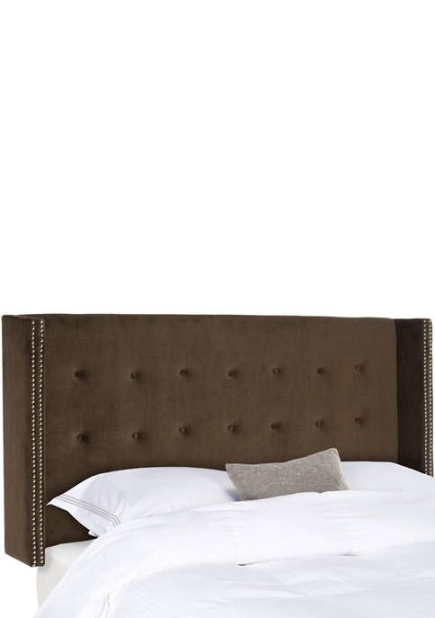 Safavieh Keegan Velvet Tufted Winged Headboard