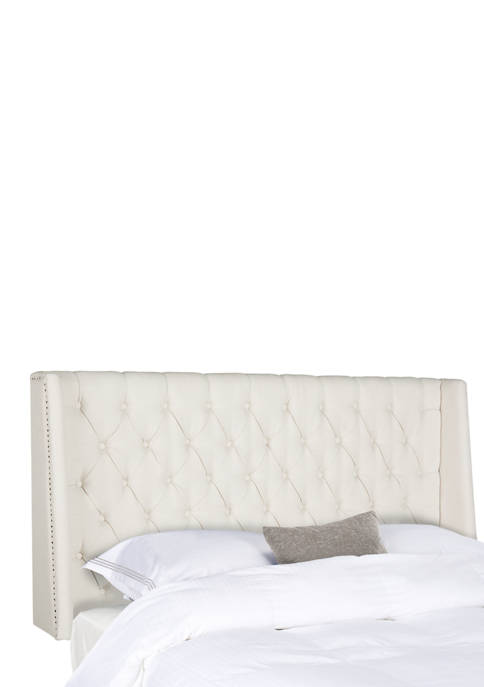 Safavieh London Linen Tufted Winged Headboard