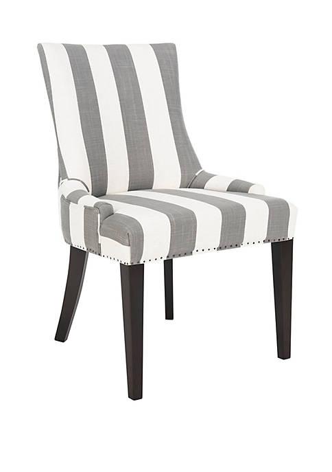 Becca Chair Gray and Bone Stripe