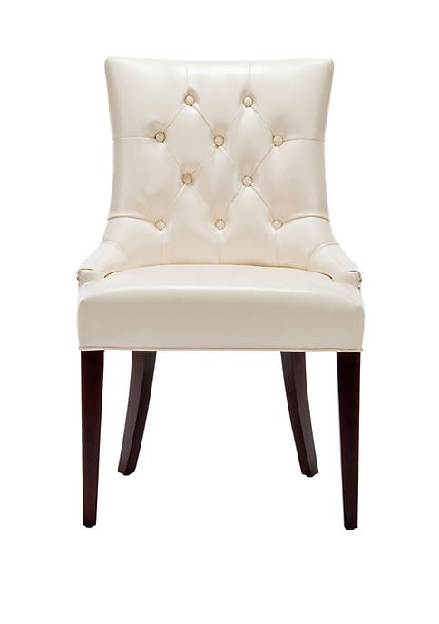 Safavieh Amanda Cream Leather Chair