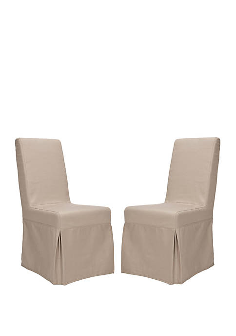 Safavieh Set of 2 Adrianna Slip Cover Chairs