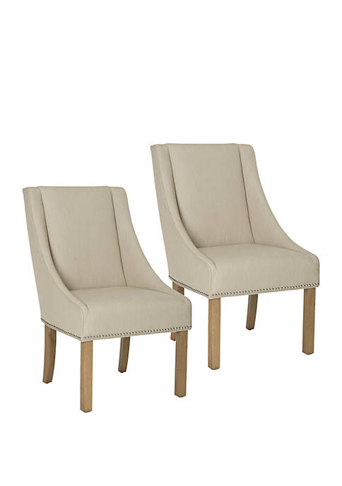 Set of 2 Morris Arm Chairs with Silver Nail Head Trim
