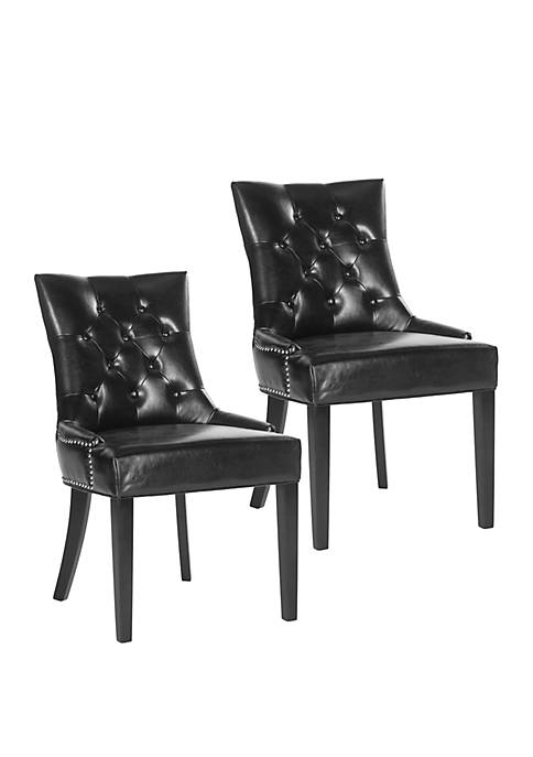 Set of 2 Harlow Ring Chair Black Bicast Leather