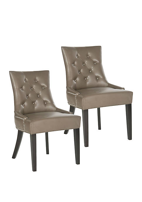 Set of 2 Harlow Ring Chair Clay-Toned Bicast Leather