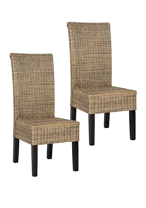 Safavieh Set of 2 Arjun Wicker Dining Chairs