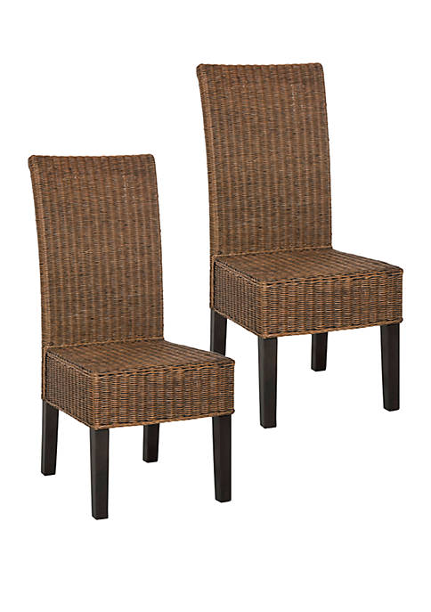 Set of 2 Arjun Wicker Dining Chairs