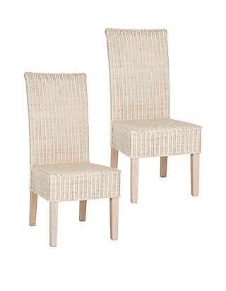 Safavieh Set Of 2 Arjun Wicker Dining Chairs Belk