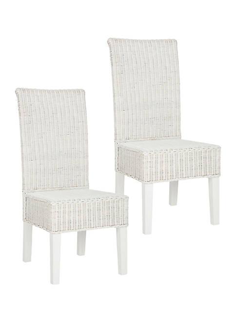 Safavieh Set of 2 Arjun Wicker Dining Chairs