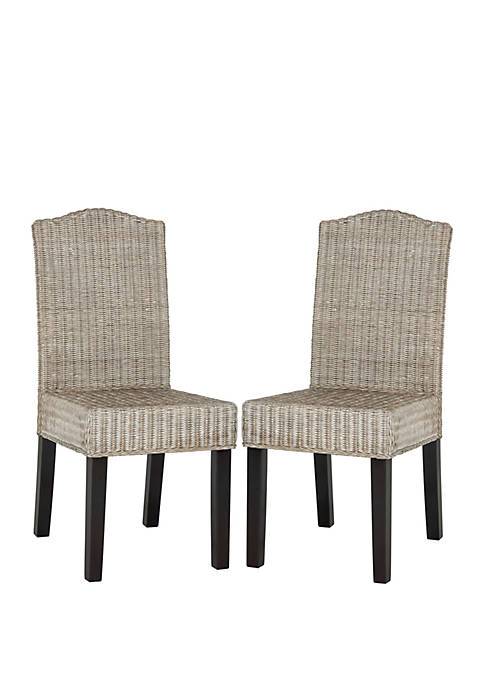 Set of 2 Odette Wicker Dining Chairs