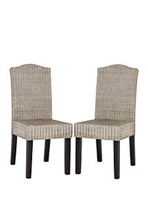 Safavieh Set of 2 Odette Wicker Dining Chairs