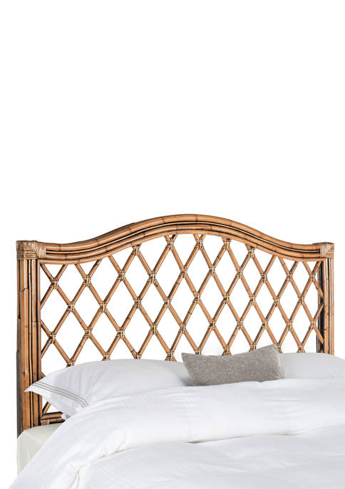Gabrielle Brown/Multi Wicker Headboard