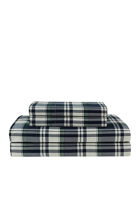 Elite Home Products Winter Nights Cotton Flannel Sheet