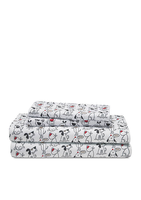 Elite Home Products Microfiber Queen Give A Dog